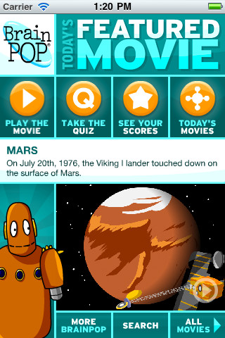 BrainPOP's Upgraded iOS App
