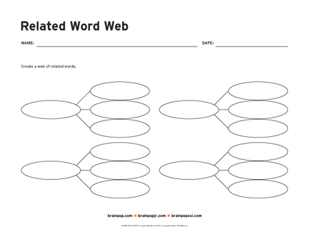 how to make a web diagram on word