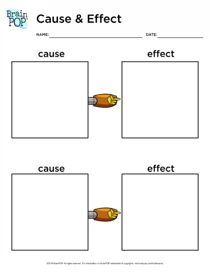 cause and effect brainpop educators