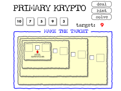 Primary Krypto Math game