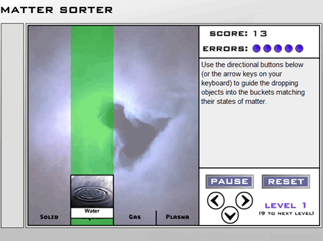 Matter Sorter Science Game
