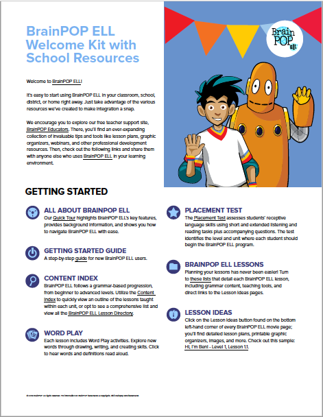BrainPOP ELL Subscription Overview