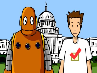 Tim and Moby Vote