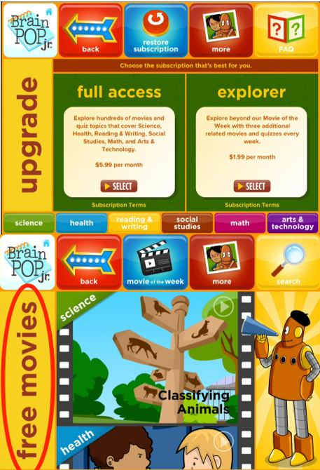 BrainPOP Jr. App