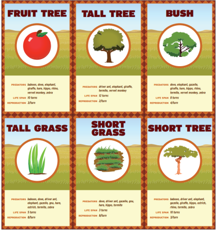 Food Fight Species Cards