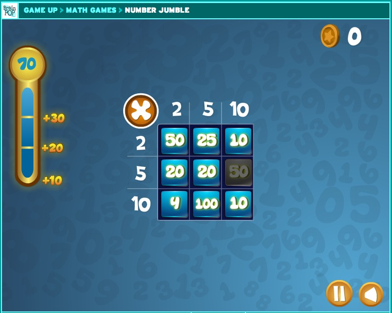 Number Jumble Math Game