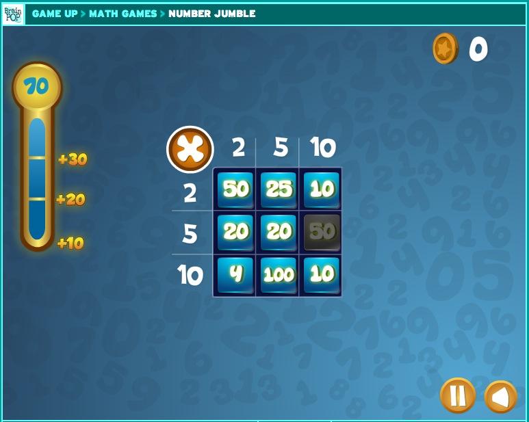 Number Jumble Math Game