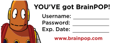 BrainPOP Subscriber Stickers