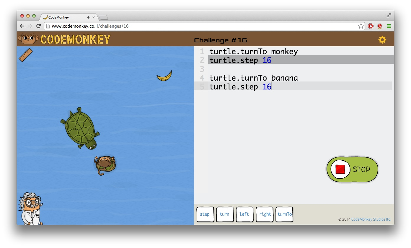 CodeMonkey Learning Game