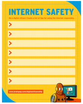 Printables Internet Safety Worksheets internet safety lesson plans and ideas brainpop educators poster