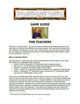 Game Guide for Teachers