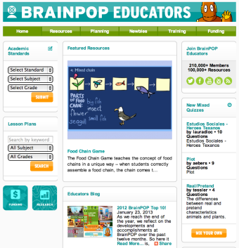 brainpop educators has a new look