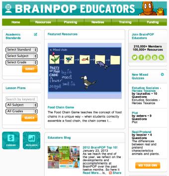 brainpop educators has a new look