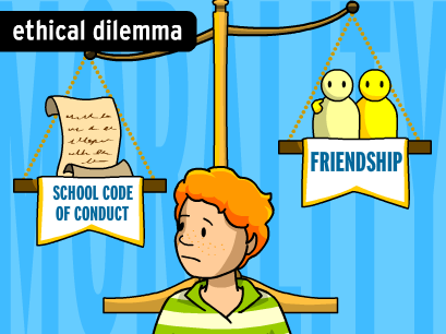 Ethical dilemmas and the Scale of Justice