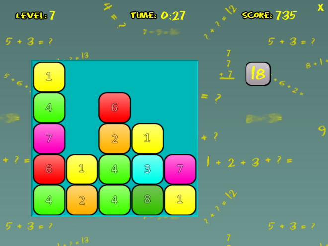 Addition Blocks Math Game