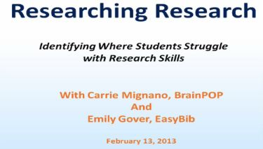 EasyBib & BrainPOP: Researching Research