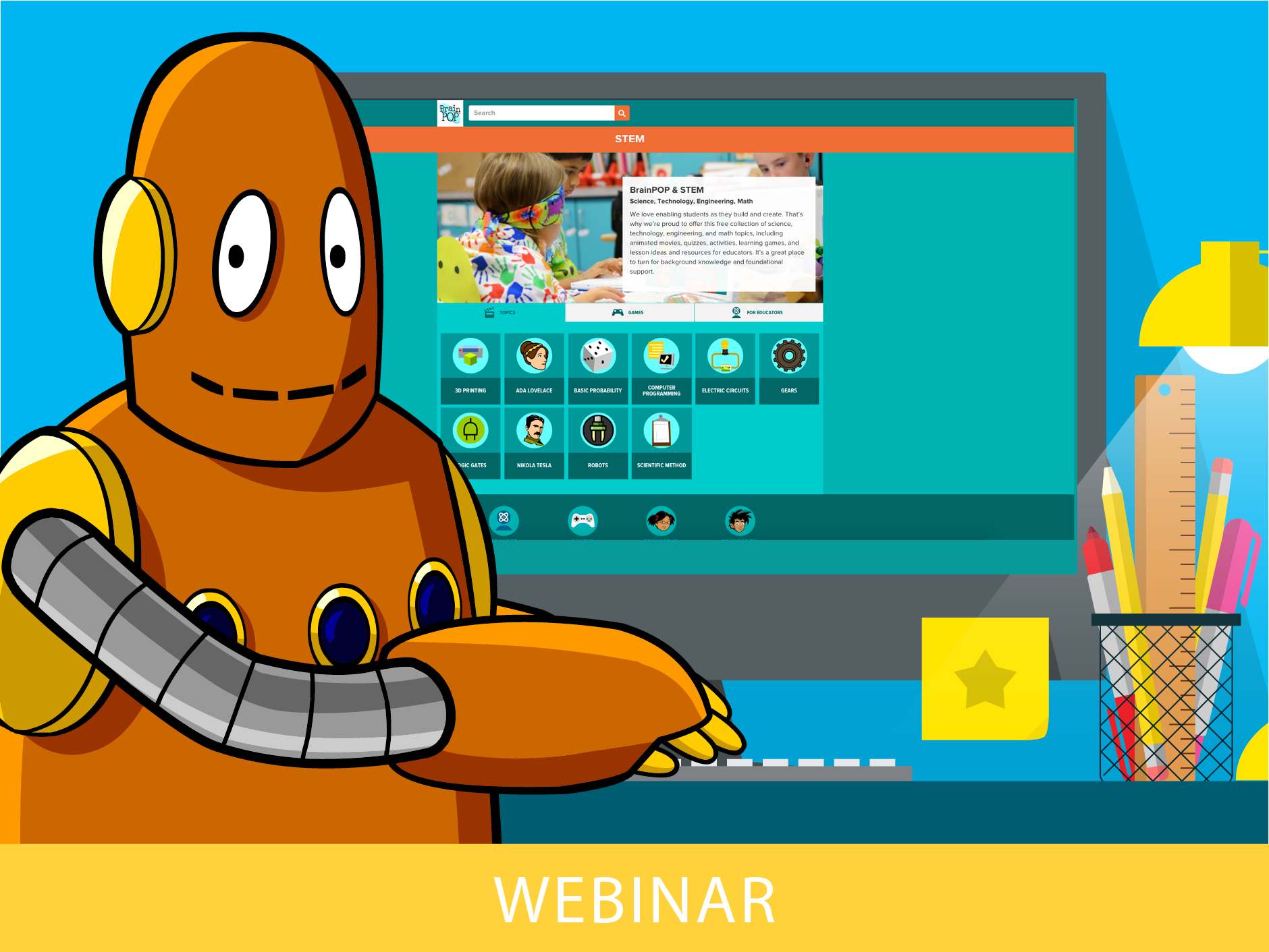 BrainPOP & STEM With CBE of the Month Mike Jones