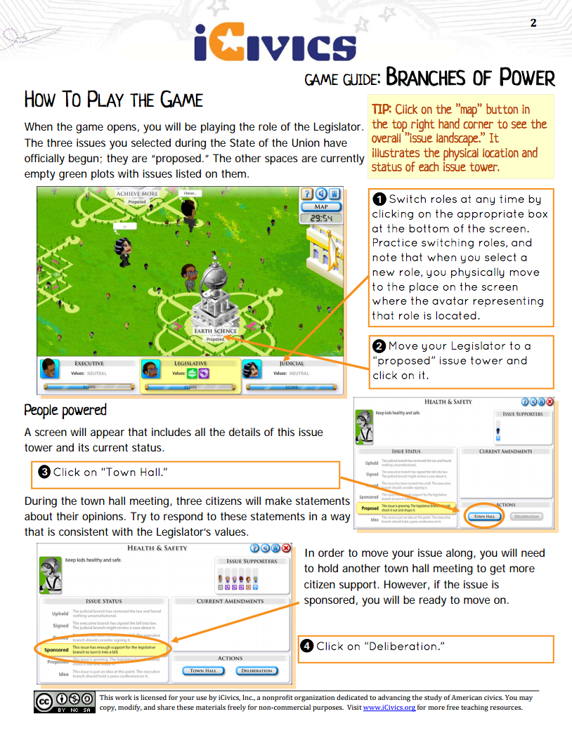 Branches of Power Social Studies Game Guide