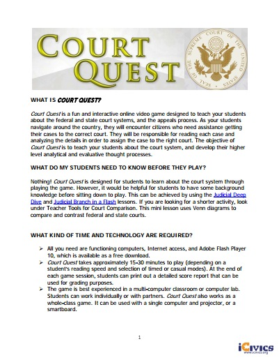 Court Quest Game Guide
