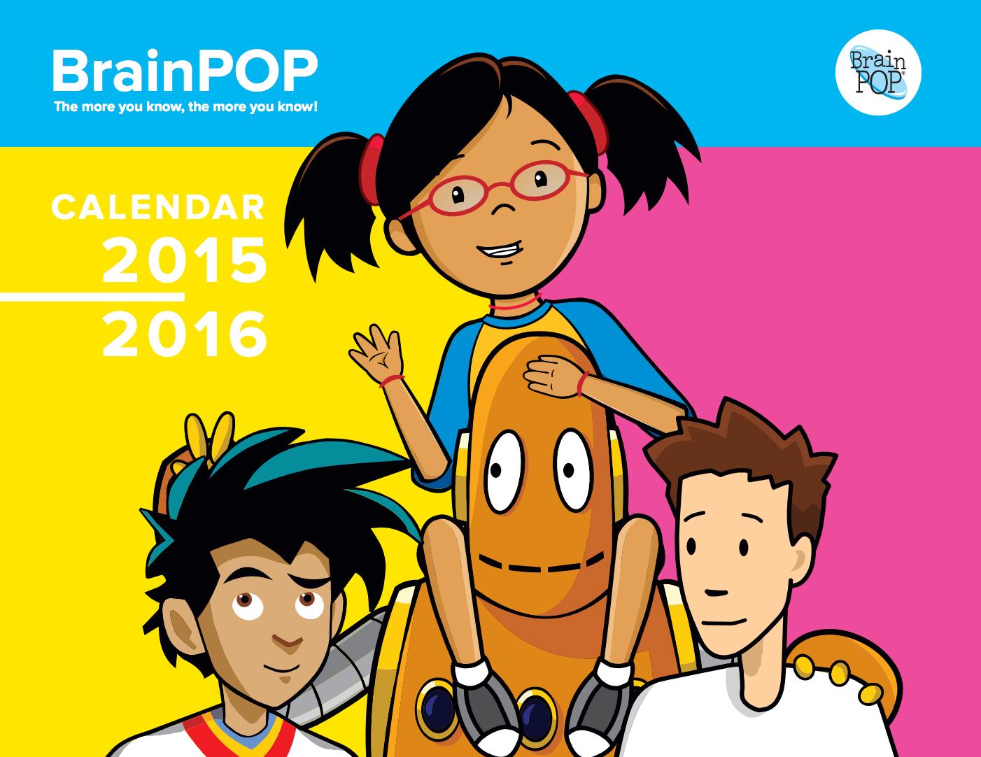 2015-2016 BrainPOP Print Calendar