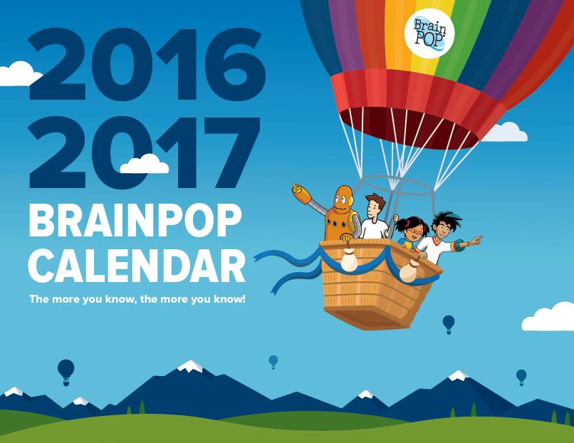 2016 – 2017 BrainPOP Print Calendar