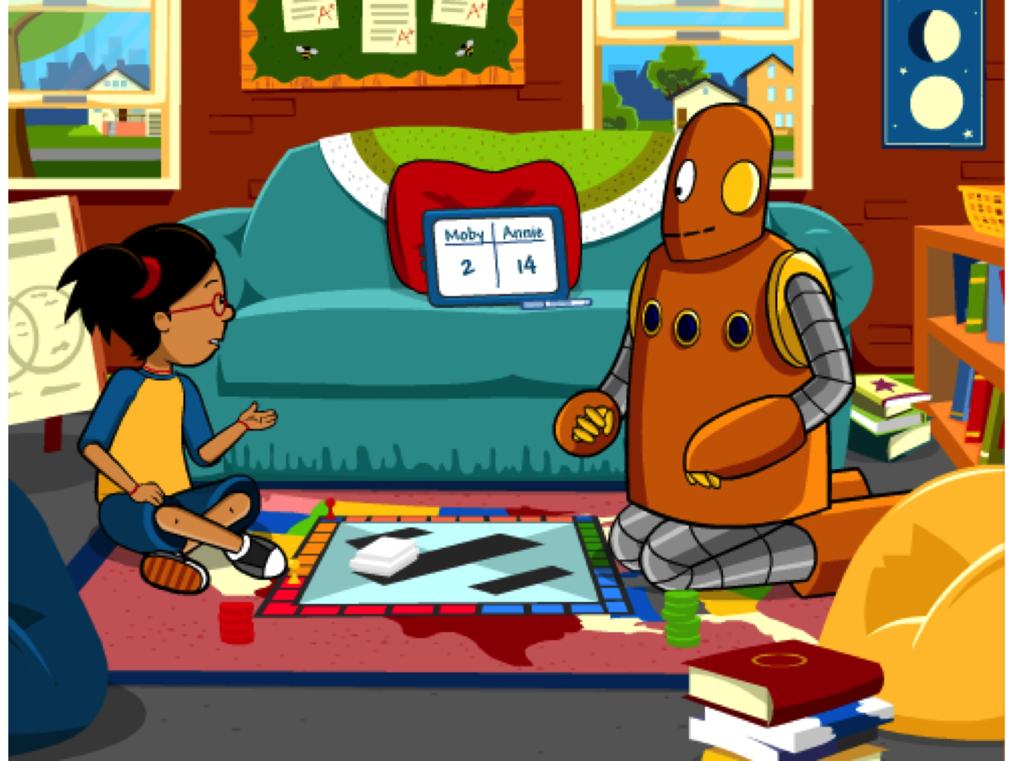 New! Subtracting with Regrouping Animation on BrainPOP Jr.