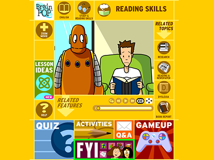 BrainPOP's FYI Feature