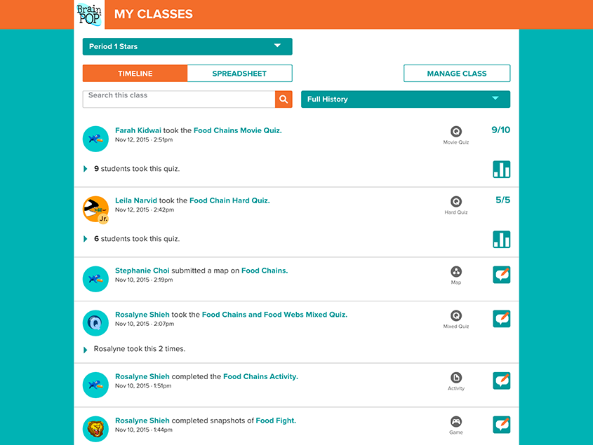 Tracking Student Activity with My BrainPOP