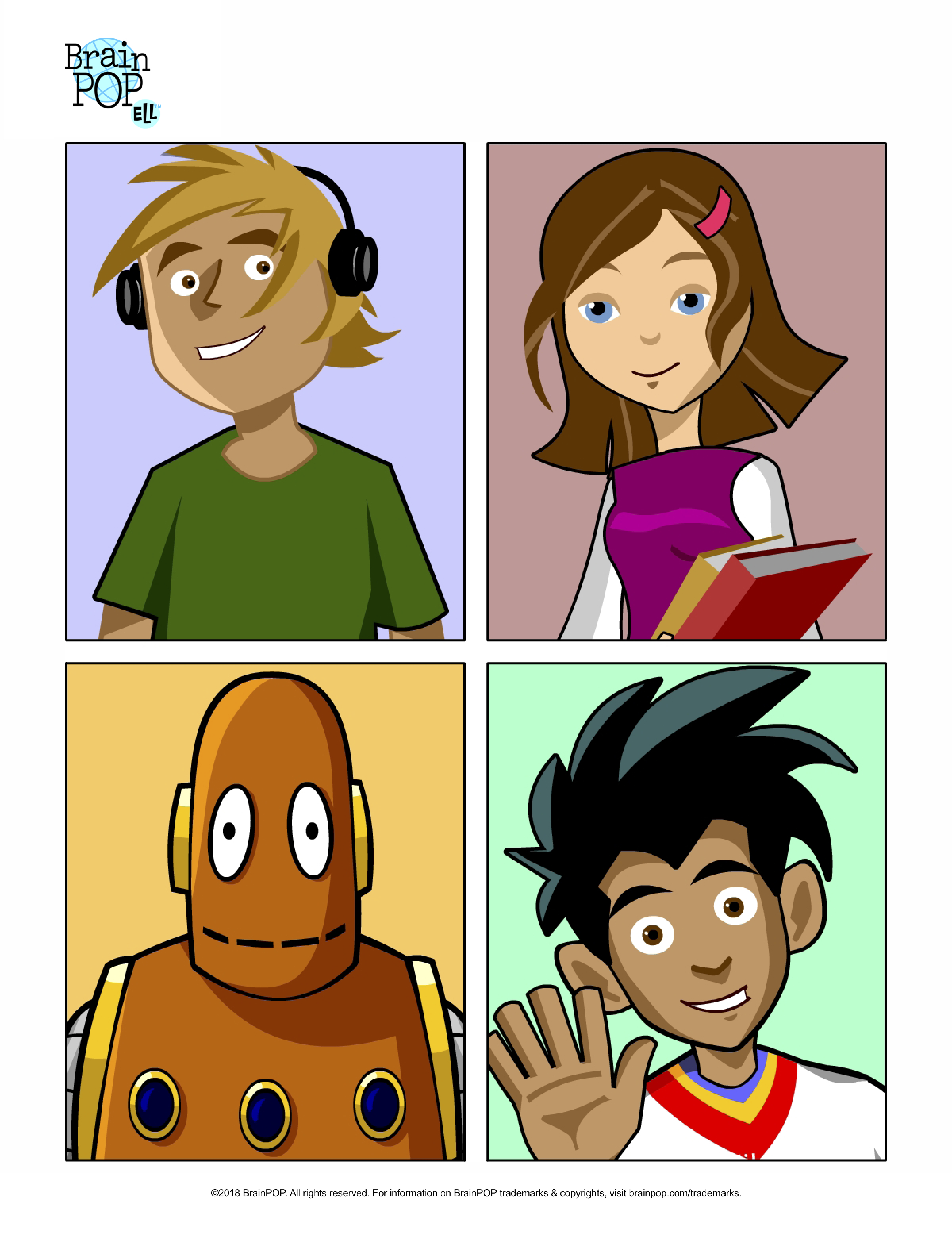 BrainPOP ELL Handout: Meet the Characters!