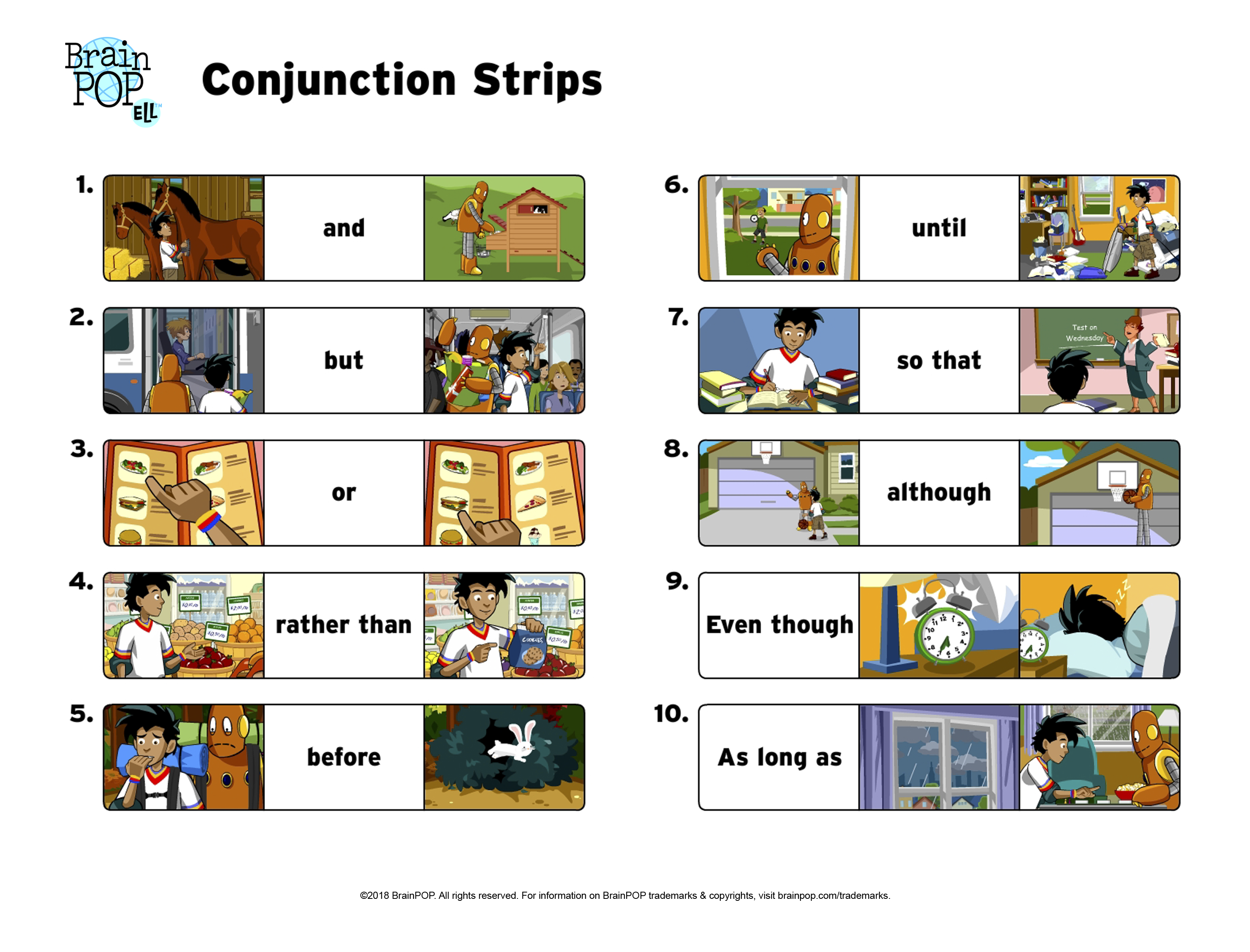Conjunction Picture Strips