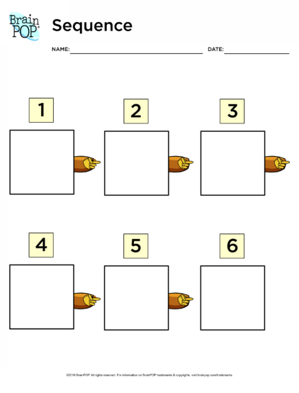 Sequence Graphic Organizer Brainpop Educators