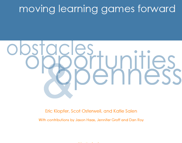 Moving Learning Games Forward Obstacles, Opportunities & Openness