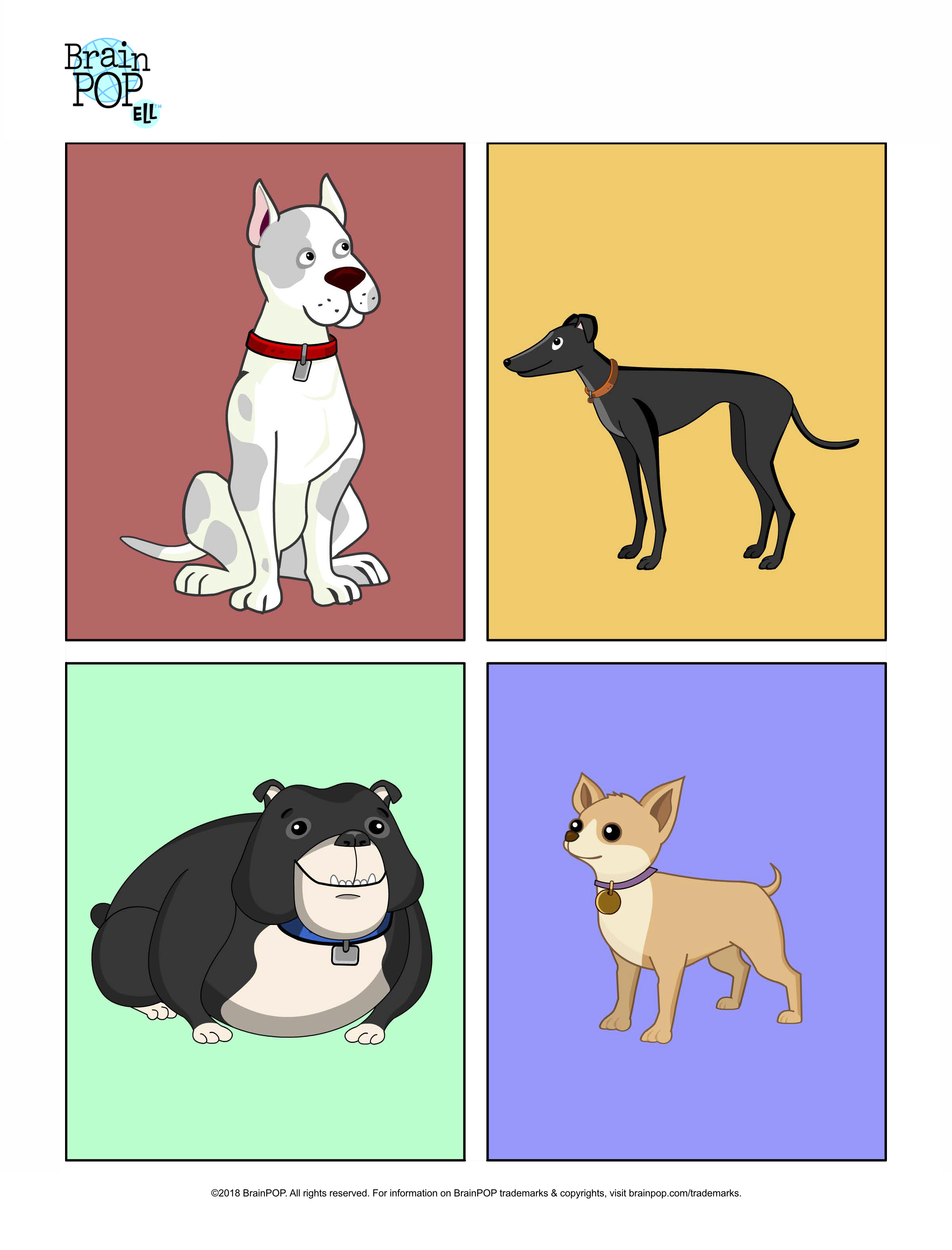 Four Dogs Image Prompt