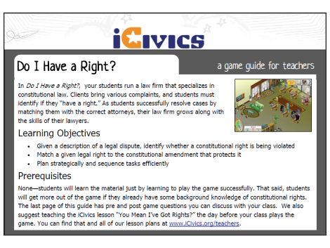 Do I Have A Right Game Guide