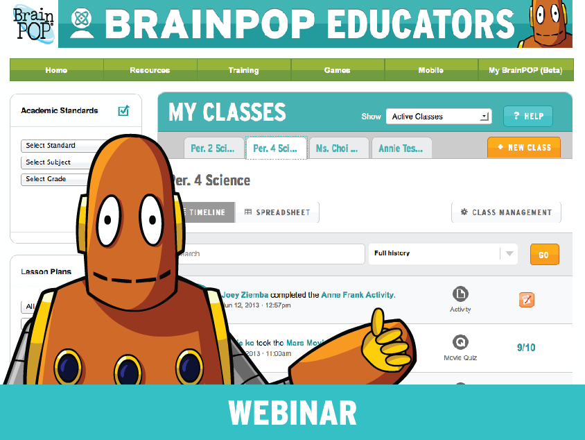 Flipping your Classroom with My BrainPOP