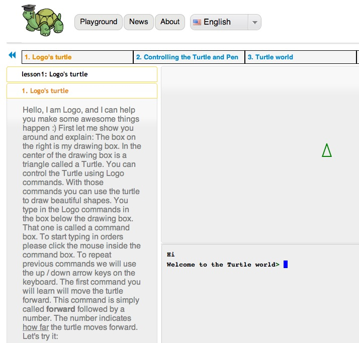 Turtle Academy Computer Programming Game