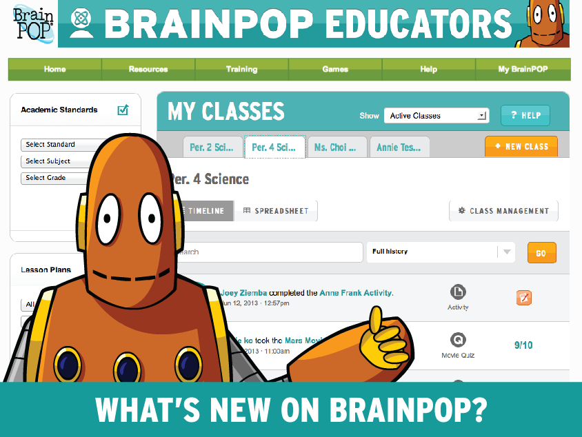 My BrainPOP is YOUR BrainPOP
