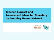 Teacher Support and Assessment
