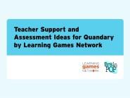 Teacher Support and Assessment