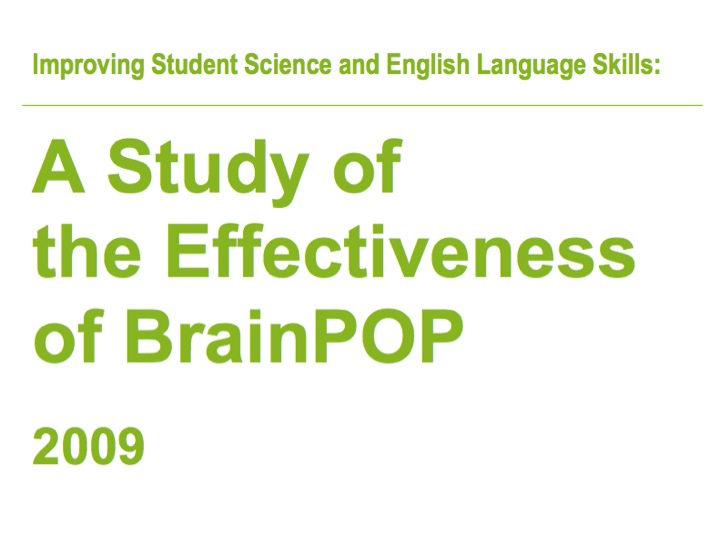 A Study of the Effectiveness of BrainPOP – Executive Summary