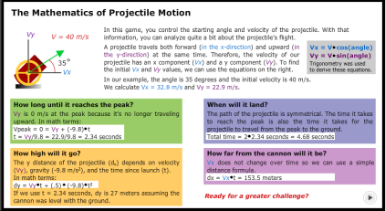 mathematics of projectile motion 1