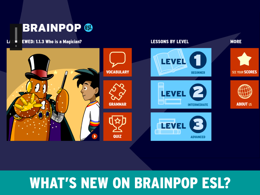 BrainPOP ESL App