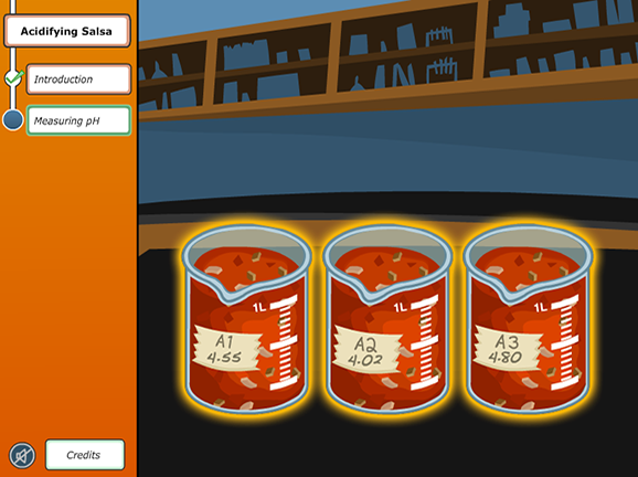Virtual Labs: Acidifying Salsa Game