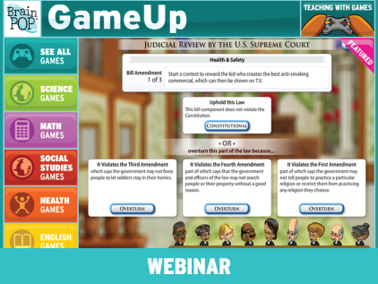 What's Up on GameUp? Educational Games Expand!