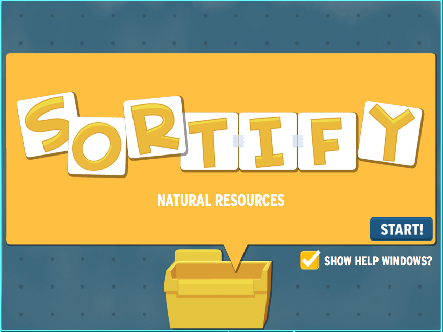 Sortify: Natural Resources Game