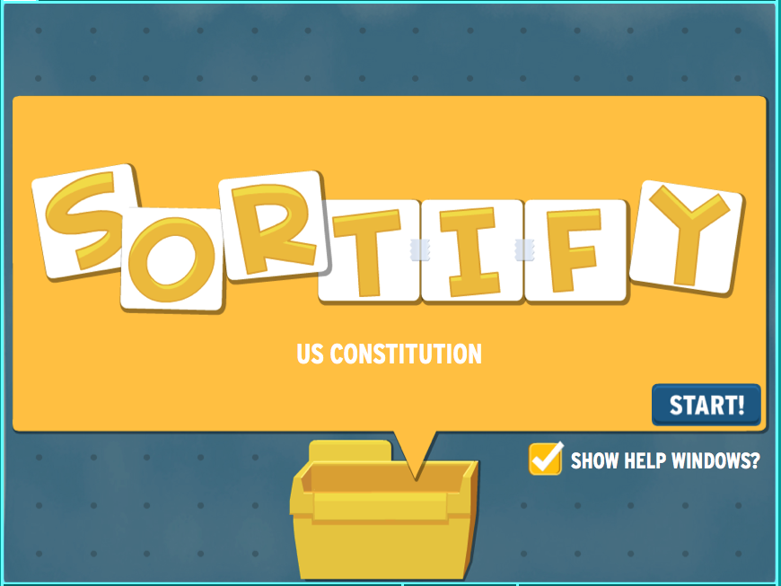 Sortify: U.S. Constitution Game