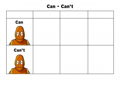 Can_Can't Graphic Organizer