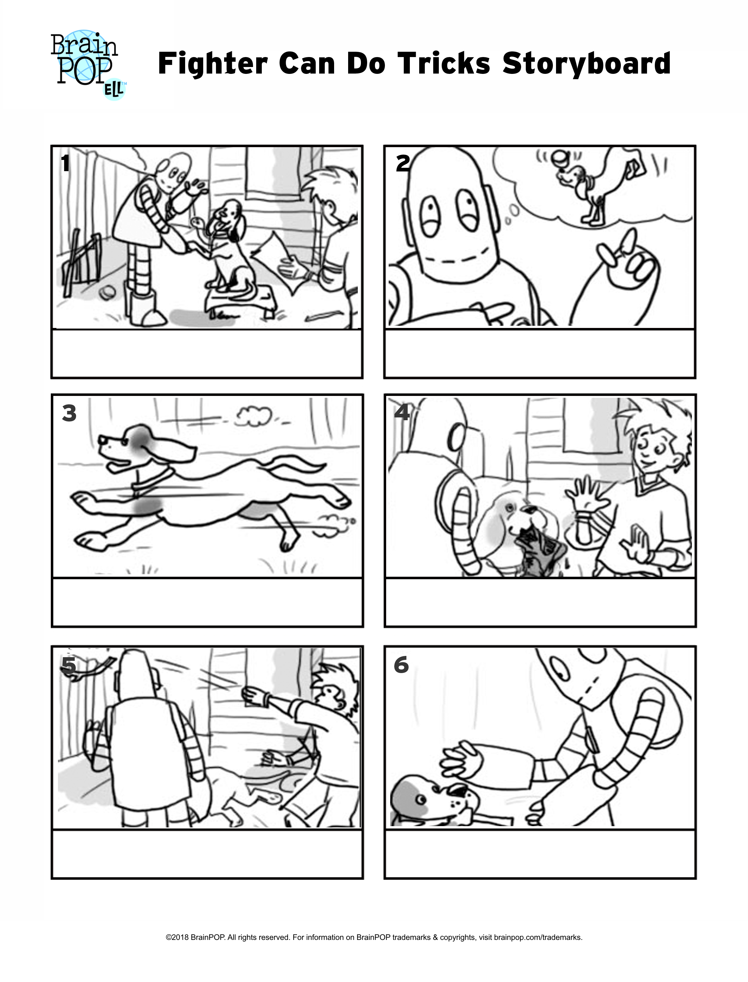 Fighter Can Do Tricks Storyboard