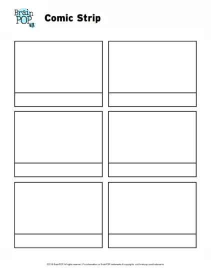 Write And Illustrate A Story Using This Comic Strip Template.