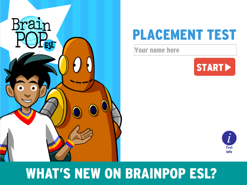 BrainPOP ESL placement test